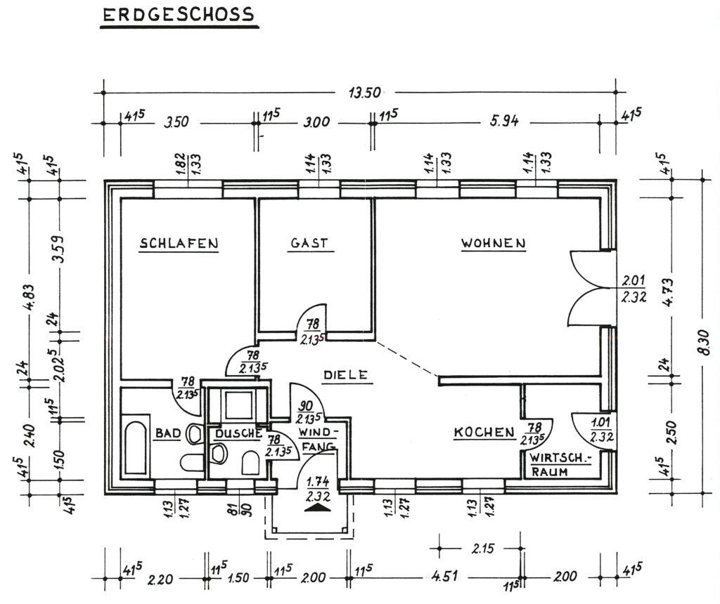 Grundriss bungalow 3 zimmer  Halstenbek-Krupunder: Moderner und ruhiger 3 Zimmer - Bungalow auf ...
