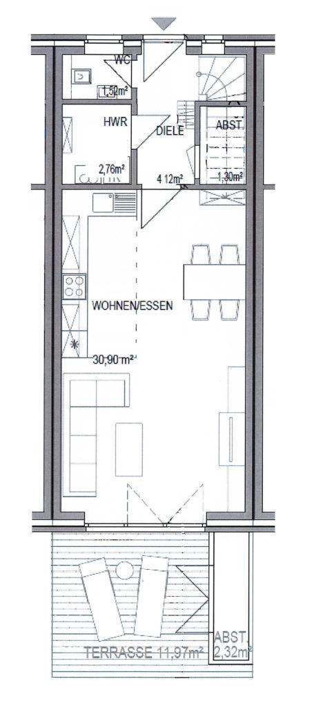 schenefeld neuwertiges kfw 70 reihenhaus mit s dgrundst ck in zentraler lage classic immobilien. Black Bedroom Furniture Sets. Home Design Ideas