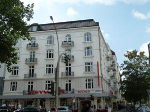 Hamburg-Eppendorf: 2- Zimmer – Wohnung mit Wohnküche in imposantem Jugendstil – Eckhaus