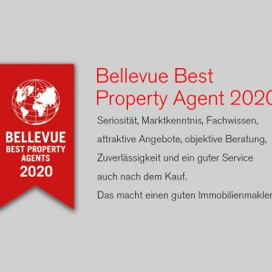 Qualitätssiegel: Bellevue Best Property Agent 2020